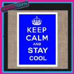 KEEP CALM AND STAY COOL JUTE  SHOPPING GIFT BAG